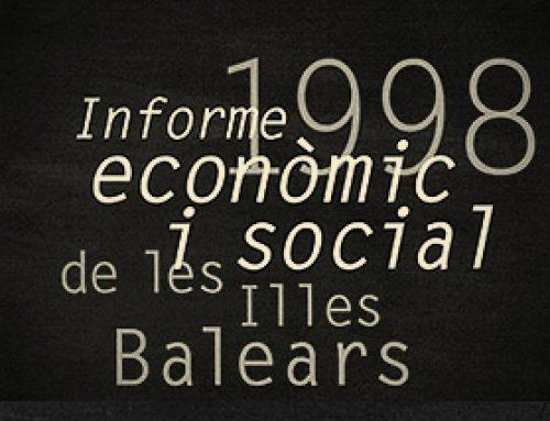 """Patrimoni"". Informe econòmic i social de les Illes Balears, 1998"