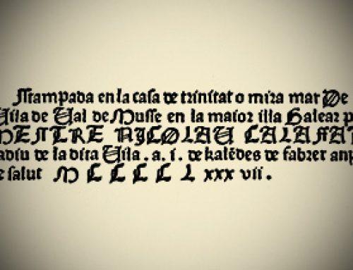 Miramar y el primer establecimiento tipográfico mallorquín: La imprenta de Nicolau Calafat y Bartomeu Caldentey (1485-90)