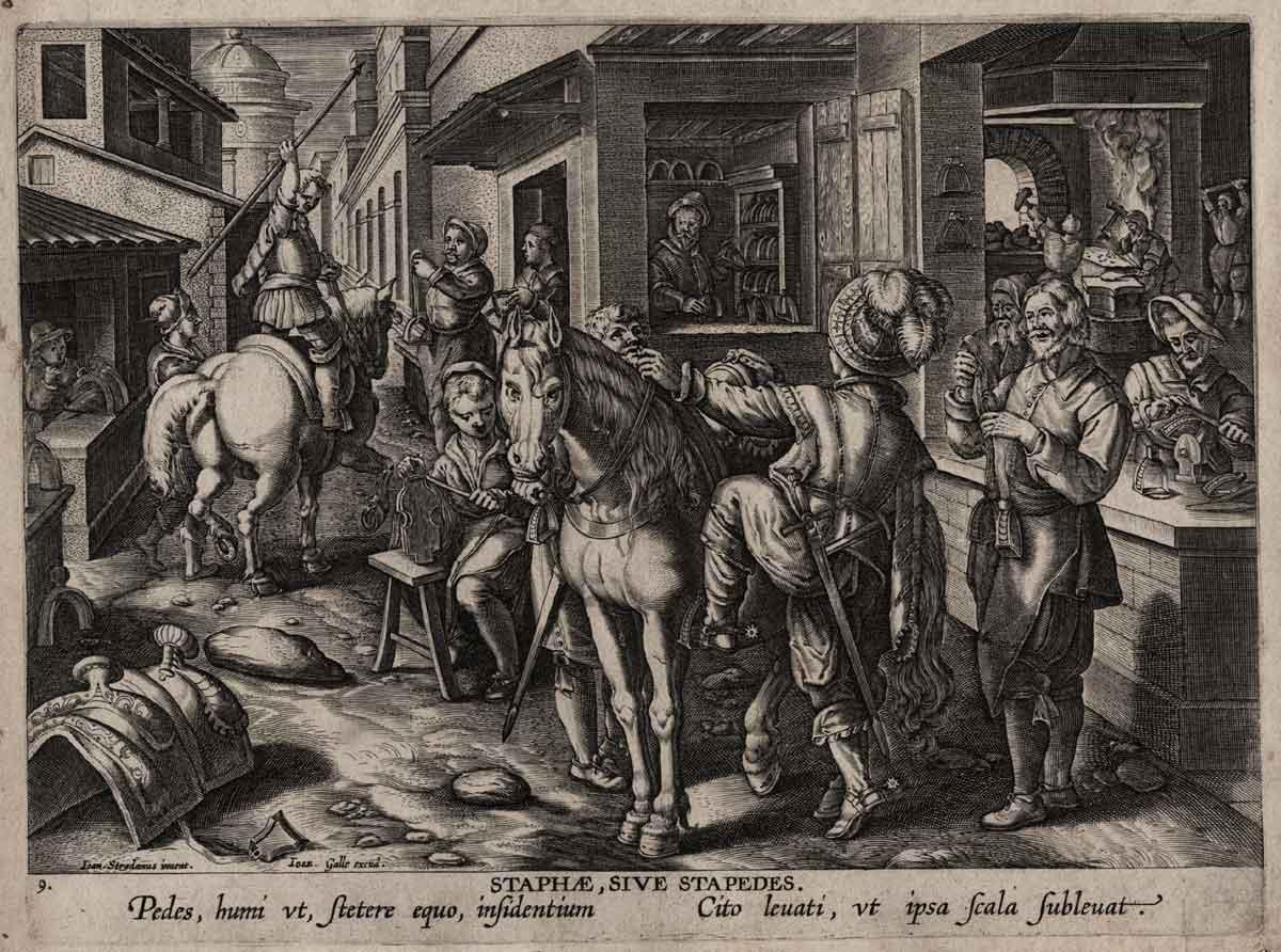 Descubrimiento del arnés de los caballos