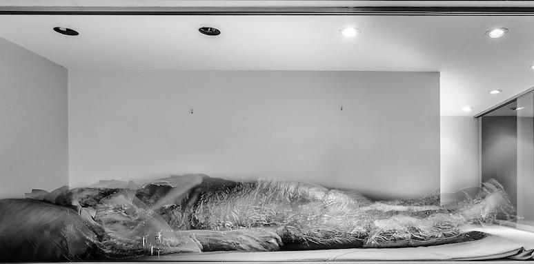 Agustín Fernández Mallo; Gabriel Lacomba. Proyecto Niño Larva. Foto: Gabriel Lacomba