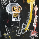 Jean Michel Basquiat. Untitled-82-skull