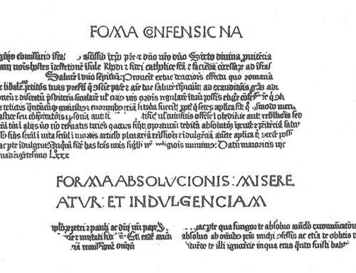 Primera manifestación impresa mallorquina: la Bula de Indulgencias de la Santa Cruzada para la defensa de Rodas.